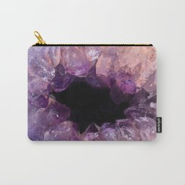 Amethyst Crystal Carry-All Pouch
