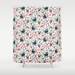 Fantasy Finches Shower Curtain