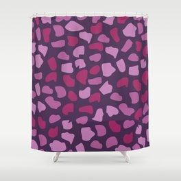 Burgundy Stones Shower Curtain
