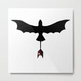 Black Toothless Metal Print