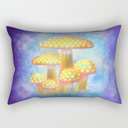 Yellow Bioluminescence Rectangular Pillow