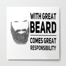 Big Great Beard Metal Print