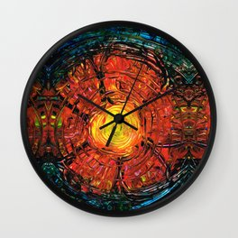 Red Flower Art - Incurable Romantic - By Sharon Cummings Wall Clock