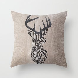 Rudolph and friends Throw Pillow