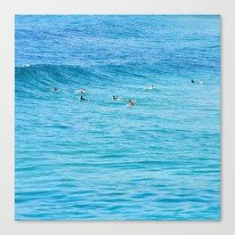 Ten Men One Wave Canvas Print