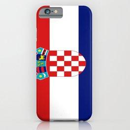 Flag of croatia -croatian, Hrvatska,croat,croacia,Zagreb,split,rijeka,osijek. iPhone Case