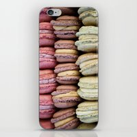 macarons iPhone & iPod Skins featuring Macarons by Tanya Harrison Photography