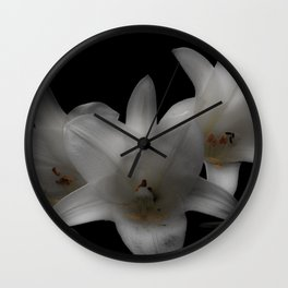 Easter Lilies Wall Clock