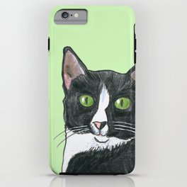 Black and White Cat  iPhone Case