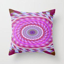 Spiralling Down Throw Pillow