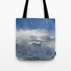 Snowy Peaks Tote Bag