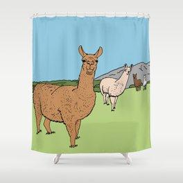 Llama-rama Shower Curtain