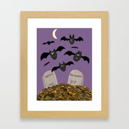 Halloween Bats Framed Art Print