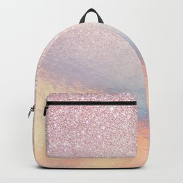 Chic Pink Glitter Iridescent Holographic Gradient Backpack