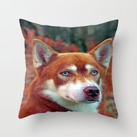 ginger Throw Pillows featuring ginger by Doug McRae