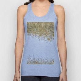 Sparkling golden glitter confetti effect Unisex Tanktop