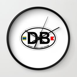 Dewey Beach - Delaware. Wall Clock