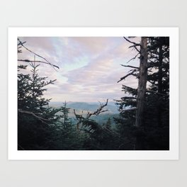 White Mts From Mt. Pierce, NH Art Print
