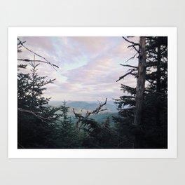 White Mts From Mt. Pierce, NH Art Print