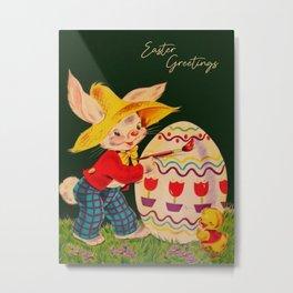 Peter Cottontail - Easter Greetings Metal Print