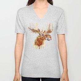 Moose Head Unisex V-Neck
