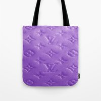 lv Tote Bags featuring Purple LV  by Luxe Glam Decor