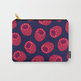 Retro Tint Raspberry Print Carry-All Pouch