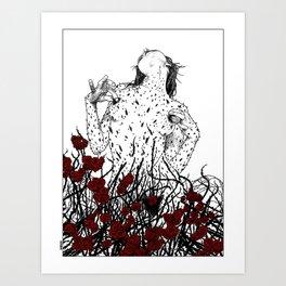 asc 428 - La reine des épines (Queen of pain) Art Print