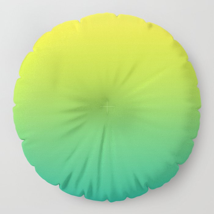 Meadowlark, Lime Punch, Arcadia Blurred Minimal Gradient | Pantone colors of the year 2018 Floor Pillow
