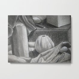 Squash, Bottle, and Egg Metal Print
