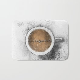 Coffee Heartbeat Bath Mat