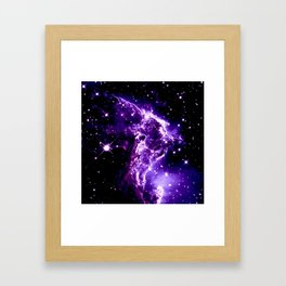 Purple Monkey Head Nebula Galaxy Space Framed Art Print