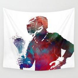 lacrosse sport art #lacrosse #sport Wall Tapestry
