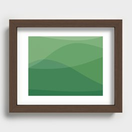Waves: Forest Bathing Recessed Framed Print