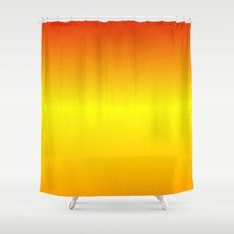 Horizontal Red, Yellow and Orange Gradient Shower Curtain