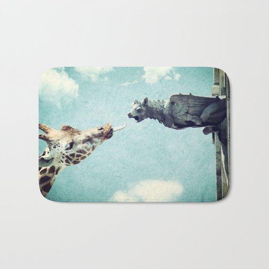 A Giraffe In Paris or French Kiss Bath Mat