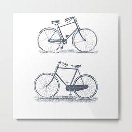 Retro Bicycles Metal Print
