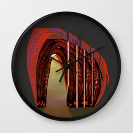 Entrance To The Unknown / Elephant 2 Wall Clock
