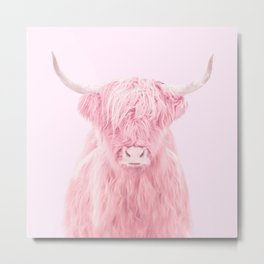 HIGHLAND COW Metal Print