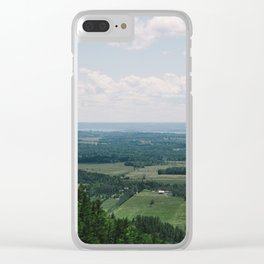 Canadian Mountain Lookout Clear iPhone Case
