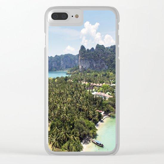 Railay Bay - Rai Leh Beach, Krabi Thailand  -  Tropical Paradise Clear iPhone Case