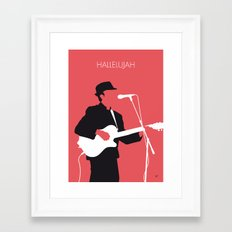 No042 MY LEONARD COHEN Minimal Music Framed Art Print