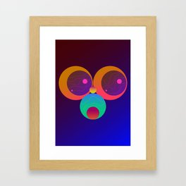 Monkey Planets (1/2) Framed Art Print