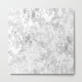 Gray Tie-Dye Metal Print