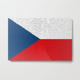 Extruded flag of the Czech Republic Metal Print