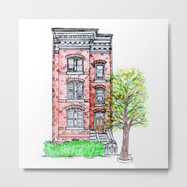 DC Row House No. 3 II Capitol Hill Metal Print