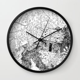 Forest Cottage Wall Clock