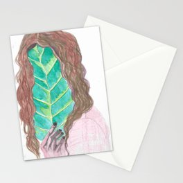 Leaf Face Stationery Cards