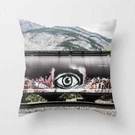 I see mountains Throw Pillow