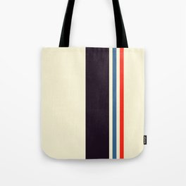 Classic Minimal Racing Car Retro Stripes - Furaribi Tote Bag